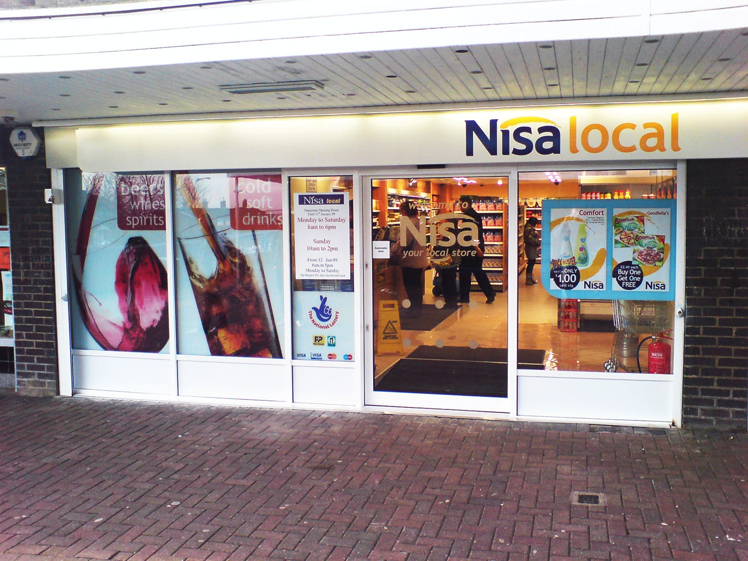 Nisa Retail Automatic Doors
